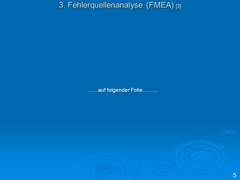 3. Fehlerquellenanalyse (FMEA) [3]
